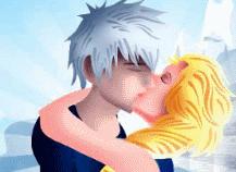 des bisous entre Elsa et Jack