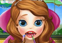 la princesse Sofia va chez le dentiste